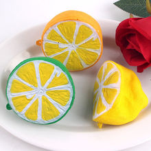 Hot Jumbo Squishy Half Lemon Fruit Scented Super Slow Rising Keyring Kid Fun Toy Hand Grips Muscle Power Training(China)