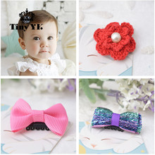 1 piece Wispy Clippy Bow Hair Clip Kids Hair clips Clippy No Slip Hairpins For Little Hair Safety Hair Accessories(China)
