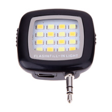 New External 16 LED Flash Fill Lights Flashlight for Samsung Iphone Phone
