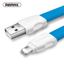 REMAX 2.1A USB cable 8pin charging Data Cable Fast Sync Charger Flat 13mm Wide TPE Cable Street Style for iphone/5/6s/plus/ipad(China)