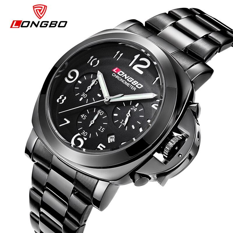 LONGBO Luxury Brands Square Mens watch True three small dial Waterproof Military Watch Casual Mens Fashion Sport quartz watch<br><br>Aliexpress