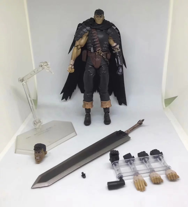 Game Berserk Beruseruku Figma 359 Black Swordman Action Figures Mode Toys 17cm (9)