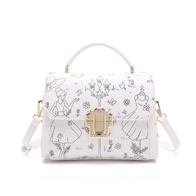 Blue Bags Handbags Women Famous Brands Stylish OL Women Leather Bag Classic Top Handle Bag White Shoulder Bag Bolsa Feminina HOT<br><br>Aliexpress
