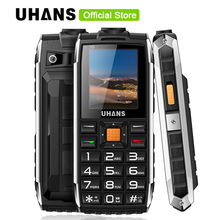 Original Uhans V5 Life Waterproof Shockproof 2500mAh Dual Sim Power Bank Long Standby Flashlight Big Speaker Outdoor Cell Phone
