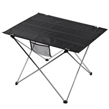 Outdoor Folding Table Camping Aluminium Alloy Picnic Table Waterproof Ultra-light Durable Folding Table Desk For Picnic& Camping(China)