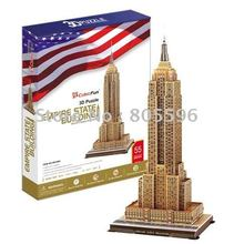 Educational Building toy,3D DIY Models,Home Adornment, Puzzle Toy,Paper model,Papercraft,EMPIRE STATE BUILDING