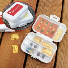 Moistureproof 8 slots Medicine Box Holder Storage Pill Container Case HTY07(China)