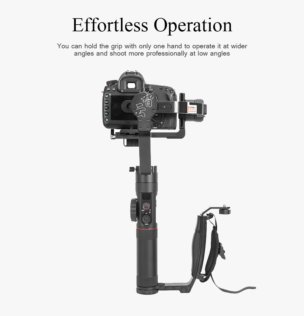 Zhiyun Crane 2 Gimbal Accessories L Bracket Mini Dual Grip Handle Holder with Hand Strap Free Extension 2