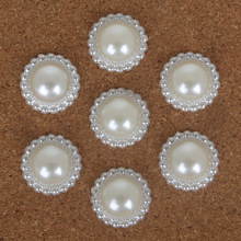 High Quality Multi-size Handcraft White ABS Imitation Pearls Flower Beads for DIY Jewelry Craft Making