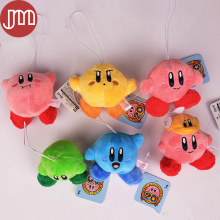 "New 6 PCS Super Mario Star Kirby Keychains Pendant Standing Pose Soft Plush Doll Kids Toys Collections Approx 3"" Free Track Code"