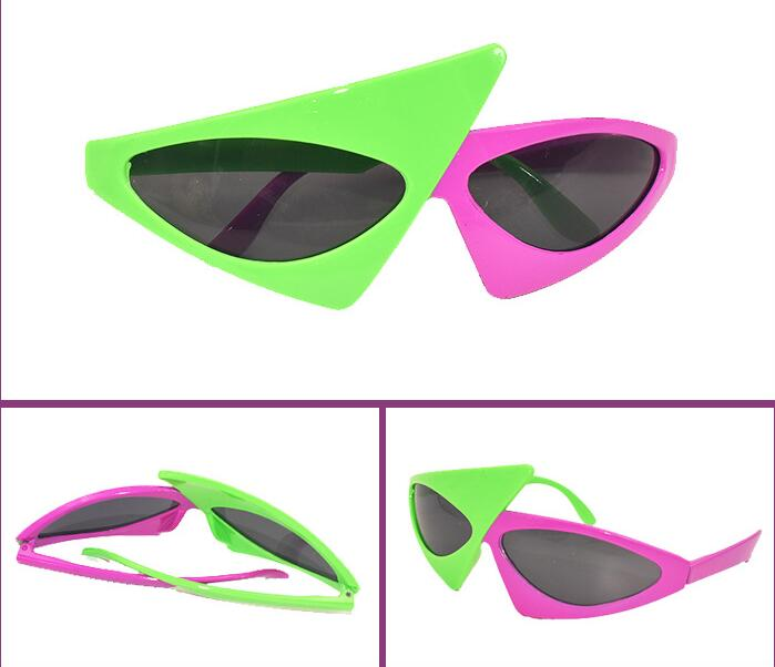 Guitar shaped glasses,fun party glasses,novelty glasses,deep pink color