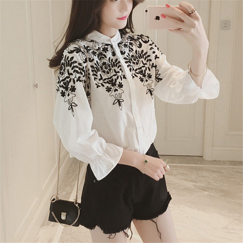 Punctual Fancy Beading Chiffon Shirt Net Yarn Bow Ties Pearls Blouses Lotus Flare Sleeves Mesh Gauze Tops Perspective Camis 2018 Spring Back To Search Resultswomen's Clothing