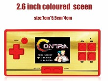 "CoolBaby RS-20 Classic Retro Game Console Handheld Portable 2.6"" 600 Games Pocket free cartridge 2nd Player Controller for FC(China)"