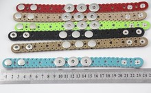 12pcs/lot  fit 18mm leather bracelet mix Multicolor Snaps Jewelry Mixed Ginger Snap Buttons For Snap Button DIY Jewelry bracelet