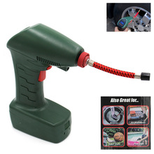 Portable Car Auto Electric Air Compressor Tire Inflator Pump with Long Extended Power Cord with Led Light For Balls Pool Floats