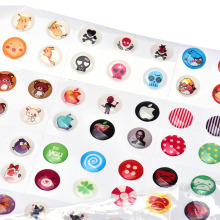 2017 Wholesale Price 330pcs/lot  Cartoon Rubber Home Button Sticker for iPhone 4 4s 5G ipad 2 3 Snowall phone Stickers stying