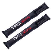 TRD SPORT Carbon Fiber Car Seat Gap Stopper Leakproof Converted Seam Protection Pad