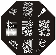 10pcs/lot D01-24 series stamping template Nail art print machine(China)