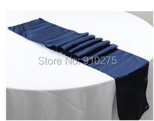 "5pcs Navy Blue Satin Table Runner Wedding Party Banquet Table Decoration 12""x 108""(Inch)"