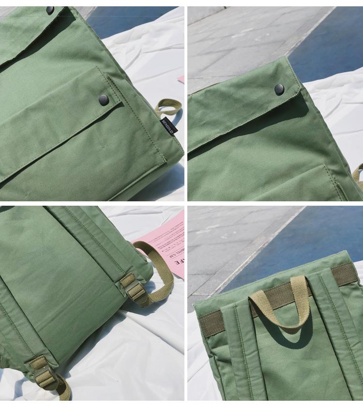 Menghuo Brand Female Women Canvas Backpack Preppy Style School Lady Girl Student School Laptop Bag Cotton Fabric bolsas00_33