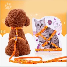 Nylon Rope Pet Supplies Pet Dog Adjustable Cat Harness Lot With Leash Lead Walking Chest Strap Pet Cat Accessories