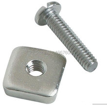 Stainless steel Screw and Plate for Long Surf board Fin and Fin box FCS, 4mm  Bolt and nut for SUP Center Fin surf borad