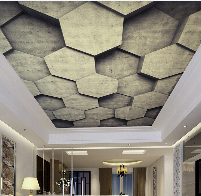 Custom 3D ceiling wallpaper, stone wall murals for the living room bedroom ceiling wall waterproof vinyl papel de parede <br>