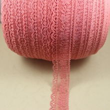 A roll 250 yards 29mm width coral Elastic Stretch Lace trim sewing headband accessories K14(China)
