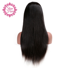 Slove Hair Straight Wig Full Lace Human Hair Wigs For Black Women Brazilian Human Remy Hair Natural Hairline With Baby Hair Wigs(China)
