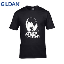 Mens white t shirts Titan Annie 2 homme black tshirts No buckle good quality tee shirt S-4XL Hip-Hop Brand-Clothing simple sale(China)