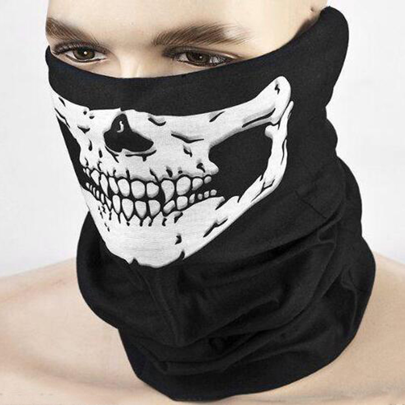 New Halloween Skull Skeleton Masks Scary Cosplay Outdoor Motorcycle Bicycle Multifunction Mask Scarf Half Face Mask Cap SkulliesÎäåæäà è àêñåññóàðû<br><br><br>Aliexpress