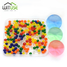 Buy 500Pcs/Lot Multi Colors Hydrogel Pear Shaped Big 3-4cm Crystal Soil Water Beads Mud Grow Ball Wedding Orbeez Growing Bulbs for $3.15 in AliExpress store