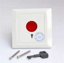 Emergency Panic Button Fire Switch NO NC COM  Security Key Reset for Alarm HO-01B +