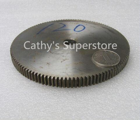 Spur Gear pinion 120T Mod 1 M=1 Width 10mm Bore 10mm Right Teeth 45# steel positive gear CNC gear rack transmission motor gears<br>