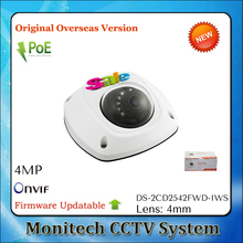 Original HIK English Version Updatable DS-2CD2542FWD-IWS Mini 4MP ONVIF Wifi Outdoor IR POE Audio Alarm WDR Dome CCTV IP Camera(China)