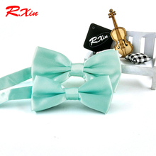 New Fashion Mint Green bow ties Men Wedding Party bowtie butterfly Cravat the groom tie Corbatas kids children boys bow tie