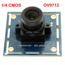 ELP 720P CMOS micro mini usb camera board for android windows linux mac Ominivision OV9712 PCB board usb camera module(China)