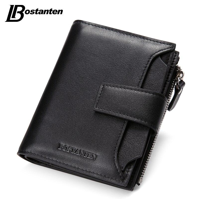Bostanten New Black Genuine Leather Men Wallets Small Famous Brand Wallet Male Designer Mens Purse Credit Card Coin Wallet Short<br><br>Aliexpress