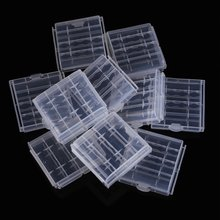 EDT-10x Plastic Case Holder Storage Box Cover for Rechargeable AA AAA Batteries(China)