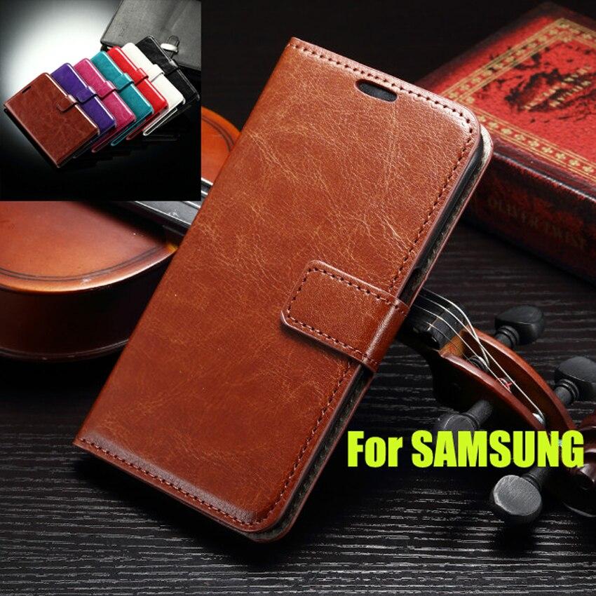 J5 / S7EDGE / S6 / S5 / S3 / S4 / A5 A3 Leather Flip Wallet Case For Coque Samsung Galaxy Grand Note4 5 S7 EDGE 2016 Stand Cover