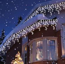 5M 216Led Outdoor Waterproof Christmas Decorative xmas String Fairy Curtain Icicle Lights For Wedding Party new year holiday
