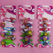 Top Quality Cute Little Unicorn Hair Clips Hair Rope Cartoon Shiny Heart-shaped Hairpins Headress with Colorful Wig Decoration(China)