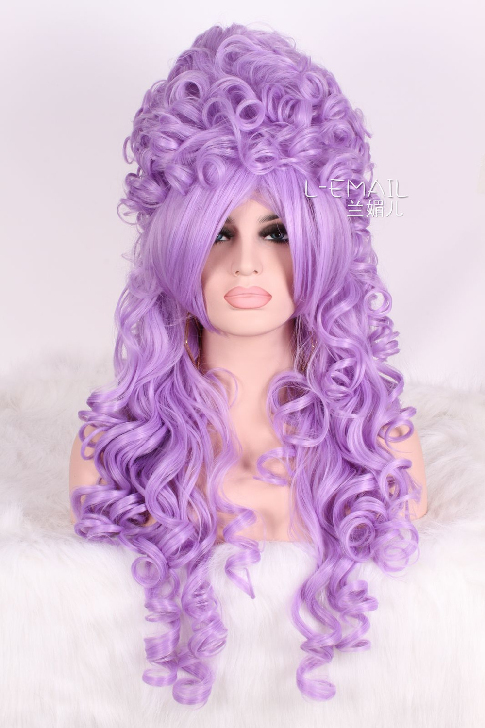 80cm long purple Marie Antoinette high quality Anime curly cosplay wig ZY34D<br><br>Aliexpress