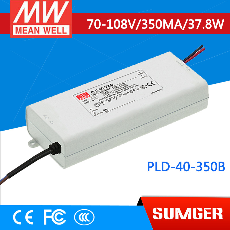 [Sumger2] MEAN WELL original PLD-40-350B 108V 350mA meanwell PLD-40 108V 37.8W Single Output LED Switching Power Supply<br>