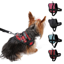 New Service Dog Harness Reflective Small Dog Collars Leashes Rope Nylon Pet Training Vest  for Cat Puppy Walking Patrol