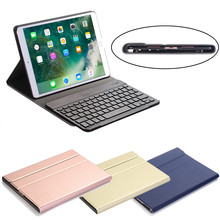Aluminum Wireless Bluetooth Keyboard + Leather Case For Apple For iPad Pro 10.5 inch Fashion Convenience 17OCT17(China)