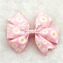 DHL. 480Pcs Boutique Ribbon Daisy Flower bow clip For Children Hairpins Princess hair clips Baby girls Hair accessories(China)