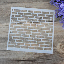 DIY Craft Brick Design Layering Stencils For Walls Scrapbooking Painting Template Stamps Album Decorative Embossing Paper Cards