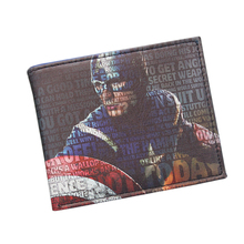 Fashion Collectible Superhero Anime Wallet Star Circle Shield CAPTAIN AMERICA Wallet Walet For Men Card Holder Cool Comics Purse(China)