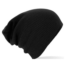 2016 New Hat Female Solid Unisex Cotton Warm Soft Touca Gorro Caps Women's Knitted Winter Hats For Men Women  Skullies Beanies
